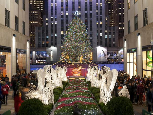 Christmas Angels.The Christmas Angels Front Center At Rockefeller Center