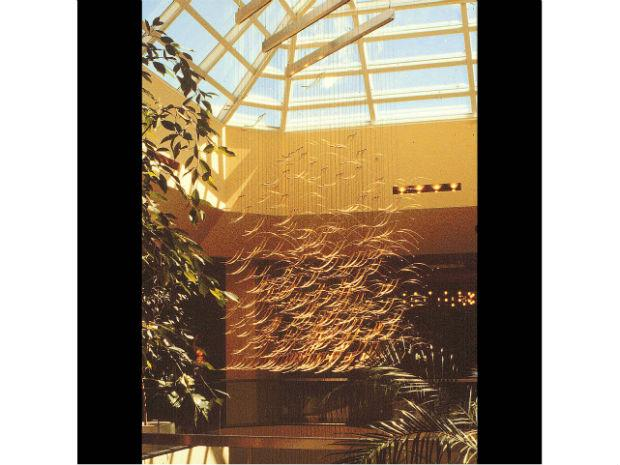 A picture from Neiman Marcus in Beverly Hills, Californa in 1979 ofone of Ihara's suspended sculptures.