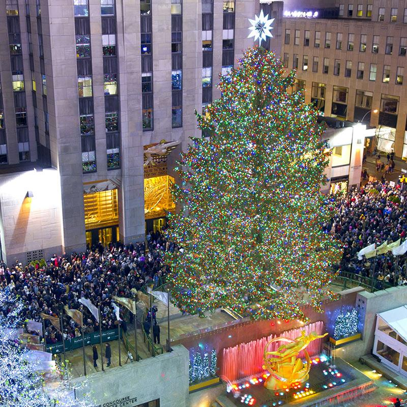 New york rockefeller center weihnachtsbaum 2019