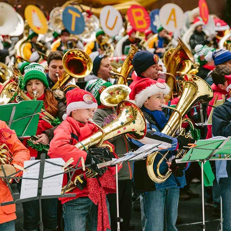 Merry Tuba Christmas 2019 2018 45th Annual Merry Tuba Christmas at Rockefeller Center at